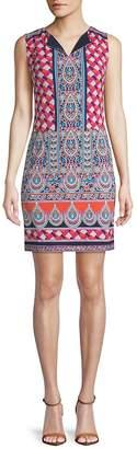 Laundry by Shelli Segal Women's Mosaic-Print Shift Dress