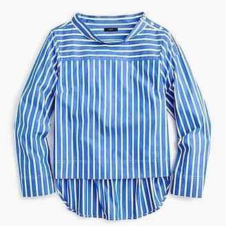 J.Crew Funnelneck striped shirt