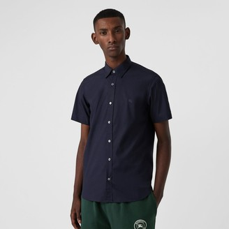 Burberry Short-sleeve Stretch Cotton Shirt