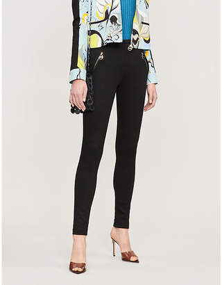 Emilio Pucci Zip pocket high-rise stretch-jersey skinny trousers