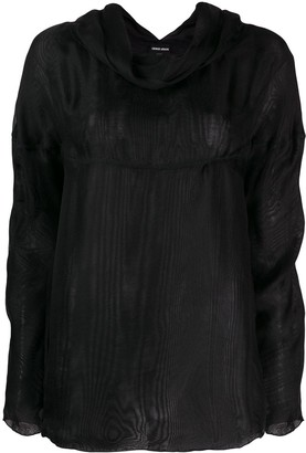 Giorgio Armani Pre-Owned 1990's cowl neck longsleeved blouse