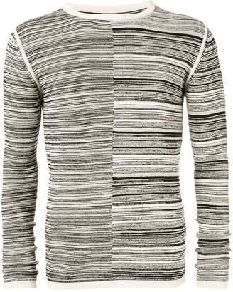 Rick Owens two-tone knit jumper