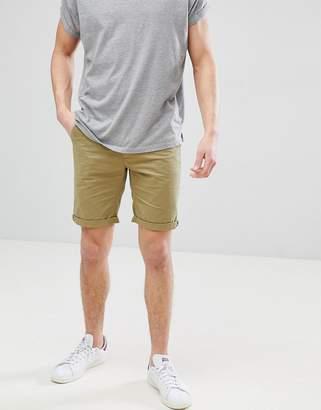 Bellfield Slim Fit Chino Shorts In Khaki