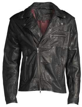 John Varvatos Patchwork Leather Jacket
