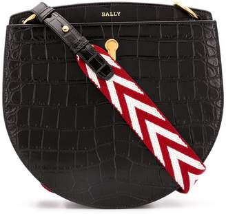 Bally Cecyle crocodile embossed saddle bag