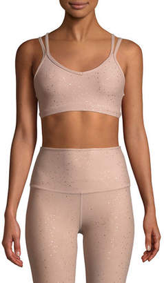 Beyond Yoga Double Back Alloy-Speckled Sports Bra