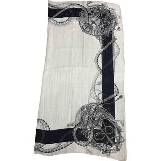 Gianfranco Ferre White Silk Scarves