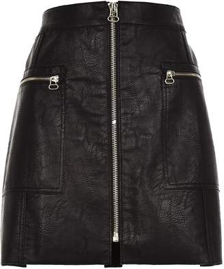 Next Womens River Island PU Mini Skirt