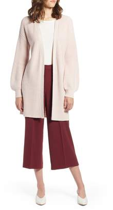 Halogen Long Blouson Sleeve Cardigan