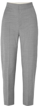 Totême Noma Wool-blend Straight-leg Pants - Gray