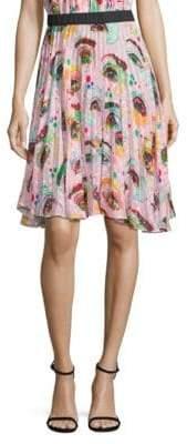 Romance Was Born Rainbows Edge Eyeconic Pleated Skirt