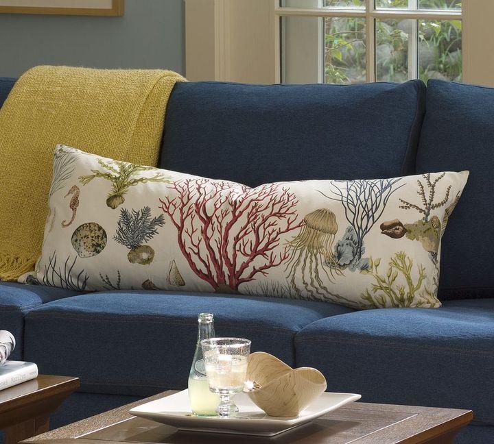 Sea Life Lumbar Pillow Cover