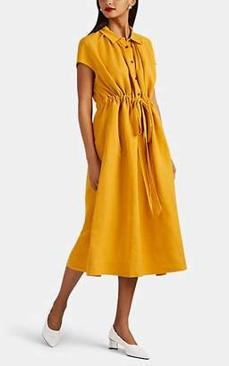 Co Women's Slub-Weave Shirtdress - Yellow