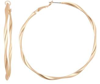 Panacea Matte Twist Hoop Earrings
