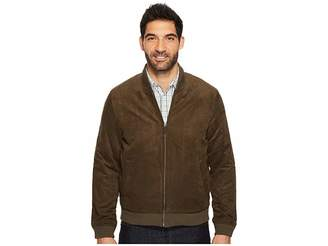 Perry Ellis Faux Suede Bomber Jacket Men's Coat