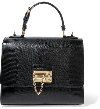Dolce & Gabbana - Monica Medium Lizard-effect Leather Tote - Black $2,295 thestylecure.com