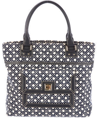 Kate SpadeKate Spade New York Leather-Trimmed Printed Tote