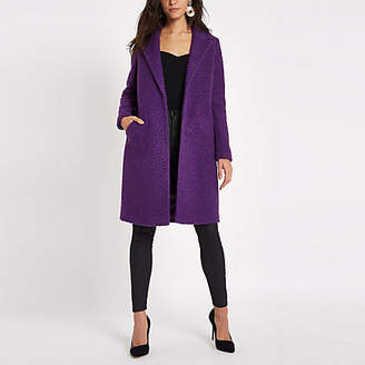 River Island Womens Purple boucle coat