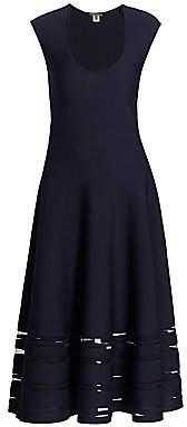Zac Posen Women's Sheer Stripe Knit Cocktail Dress