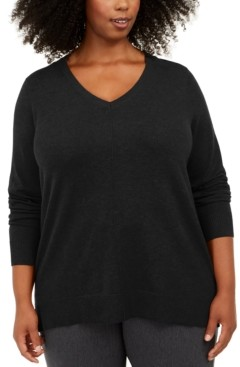Karen Scott Plus Size V-Neck Sweater, Created For Macy's