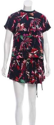 Proenza Schouler Floral Print Mini Dress