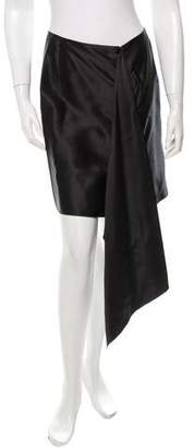 Maison Rabih Kayrouz Satin Flare Skirt w/ Tags