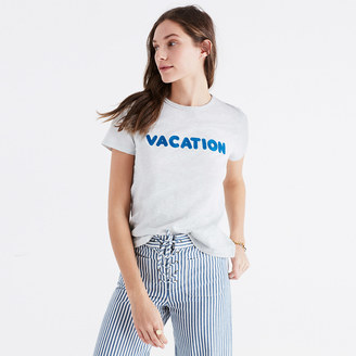 Embroidered Vacation Tee $22.99 thestylecure.com