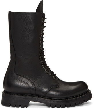 Rick Owens Black Army Boots