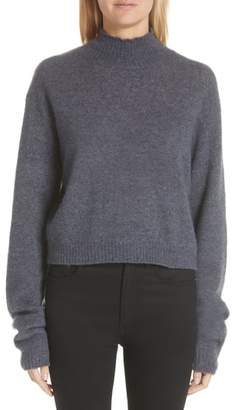 ADAM by Adam Lippes Brushed Cashmere & Silk Turtleneck Sweater