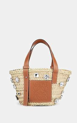 Loewe Women's Leather-Trimmed Straw Tote Bag - Natural