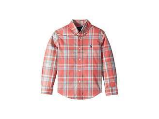 Polo Ralph Lauren Plaid Cotton Poplin Shirt (Little Kids/Big Kids)