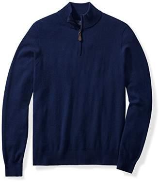 Buttoned Down Men's Cashmere Quarter-Zip Sweater