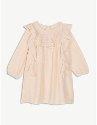 Chloé frilled crepe dress 6 months – 3 years