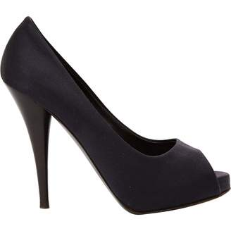Fendi Black Polyester Heels