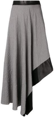Loewe houndstooth asymmetrical skirt