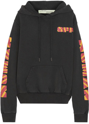 Off-White - Rays Over Printed Cotton-jersey Sweatshirt - Black $590 thestylecure.com