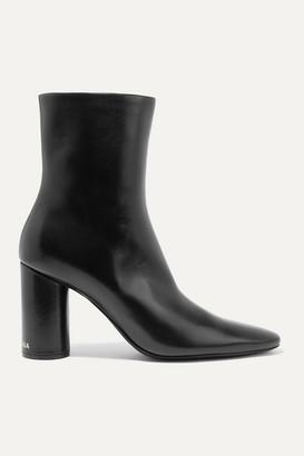 Balenciaga Oval Leather Ankle Boots - Black