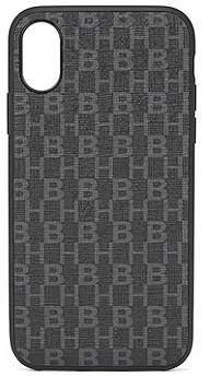 HUGO BOSS iPhone X smartphone case in monogrammed Italian fabric