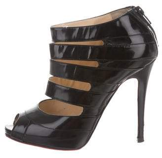 Christian Louboutin Cutout Peep-Toe Booties