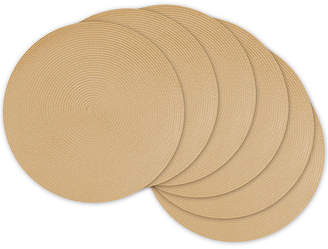 DESIGN IMPORTS Design Imports Woven Set of 6 Round Placemats