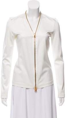 Tom Ford Zip-Accented Long Sleeve Top