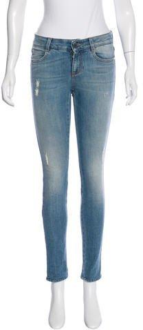 Stella McCartneyStella McCartney Distressed Skinny Jeans