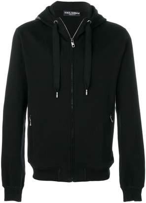 Dolce & Gabbana zipped hoodie with logo patch