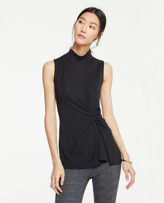 Ann Taylor Petite Knot Front Shell