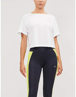 Calvin Klein logo-print mesh T-shirt