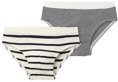 Set Of 2 Boys Striped Briefs