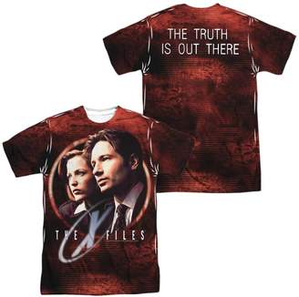 Scully The X Files X-Files Horror Sci-Fi Series Mulder & Poster Adult 2-Sided Print T-Shirt