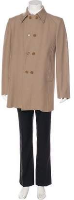CNC Costume National Double-Breasted Wool Coat