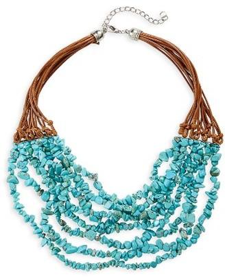 Women's Panacea Multistrand Chip Stone Necklace $34 thestylecure.com