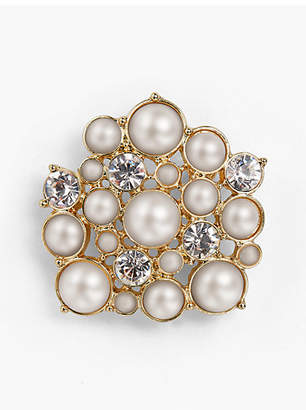 Talbots Holiday Brooch Collection - Pearl and Crystal